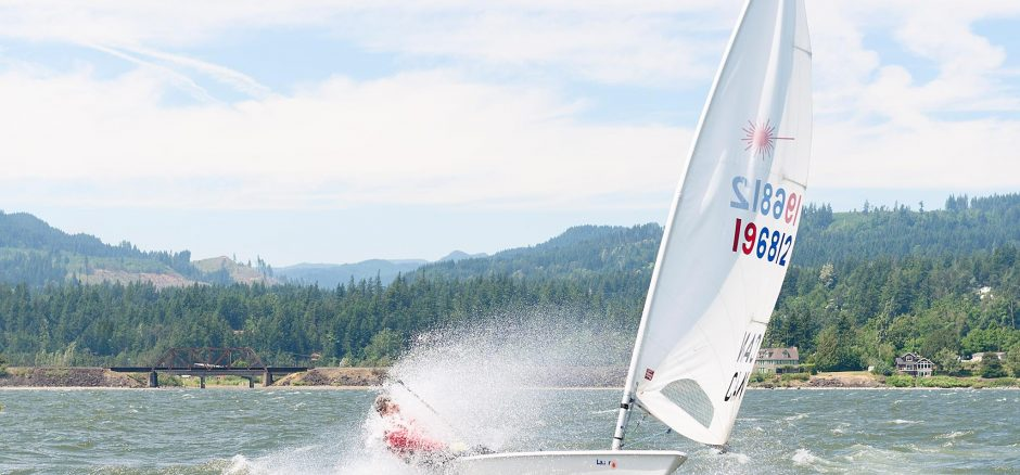 Heavy Air Downwind Laser Sailing